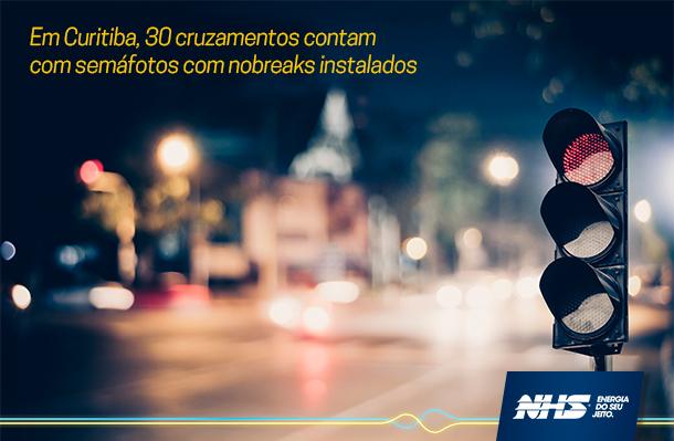 Em Curitiba, 30 Cruzamentos Contam Com Semáforos Com Nobreaks Instalados